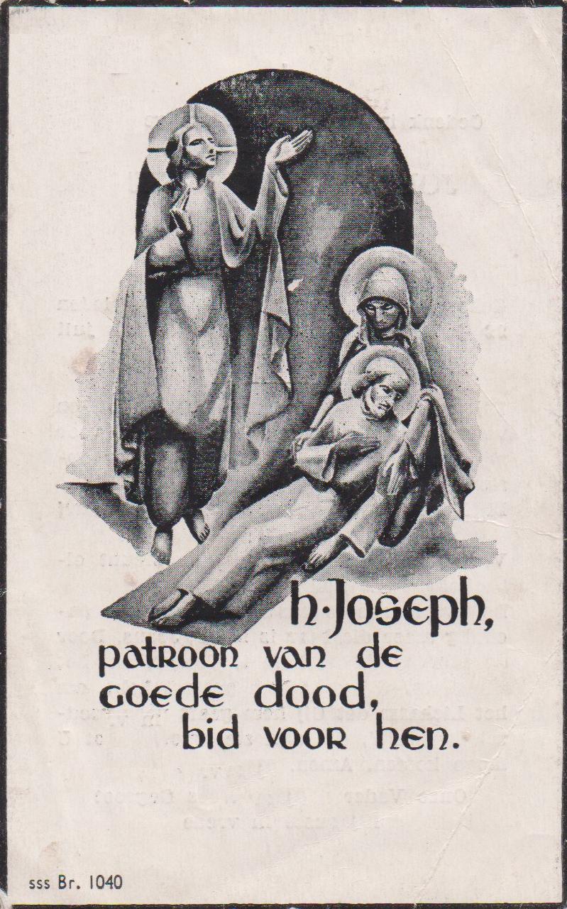 Bidprentje Joannes JosephusThijssen