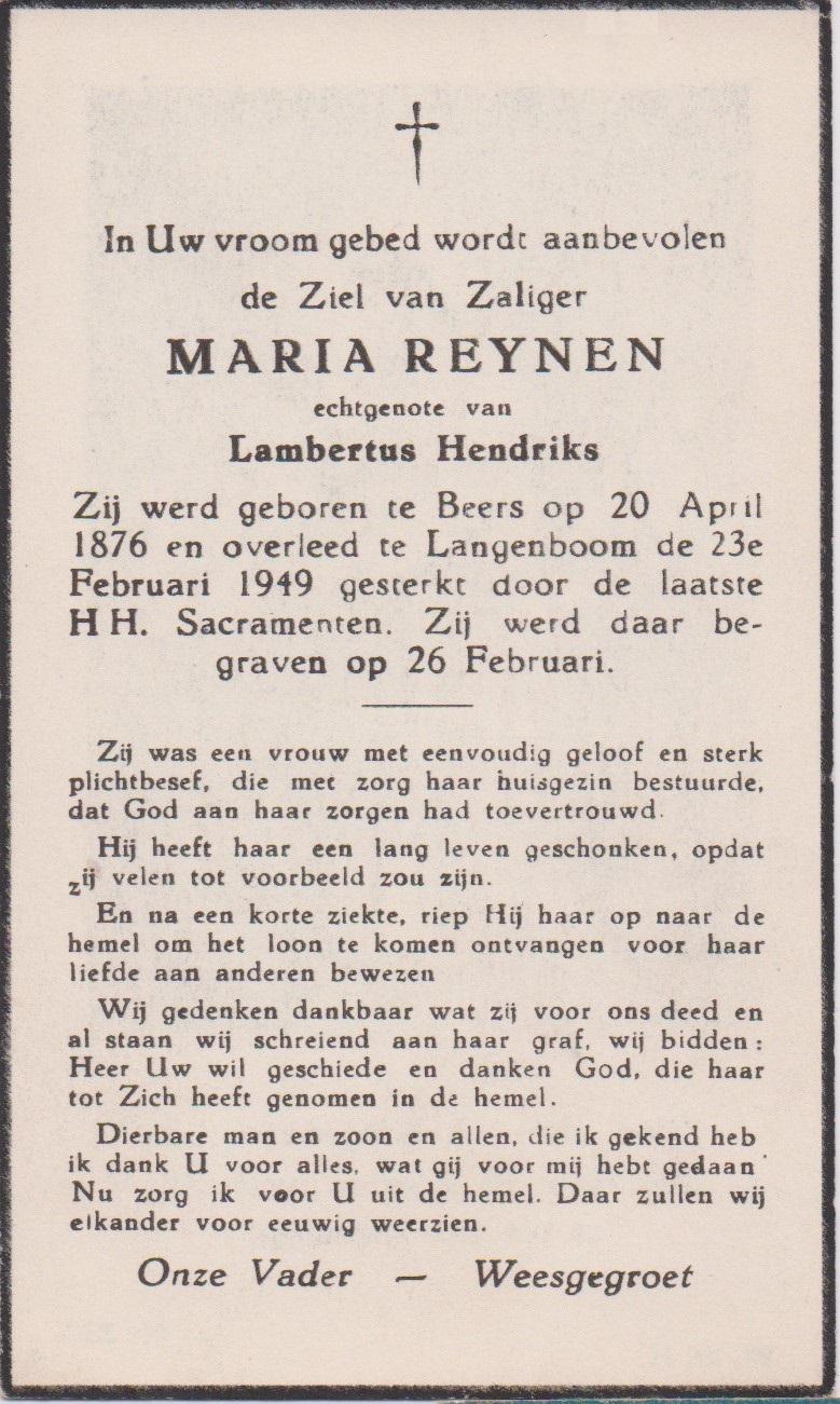 Bidprentje MariaReynen