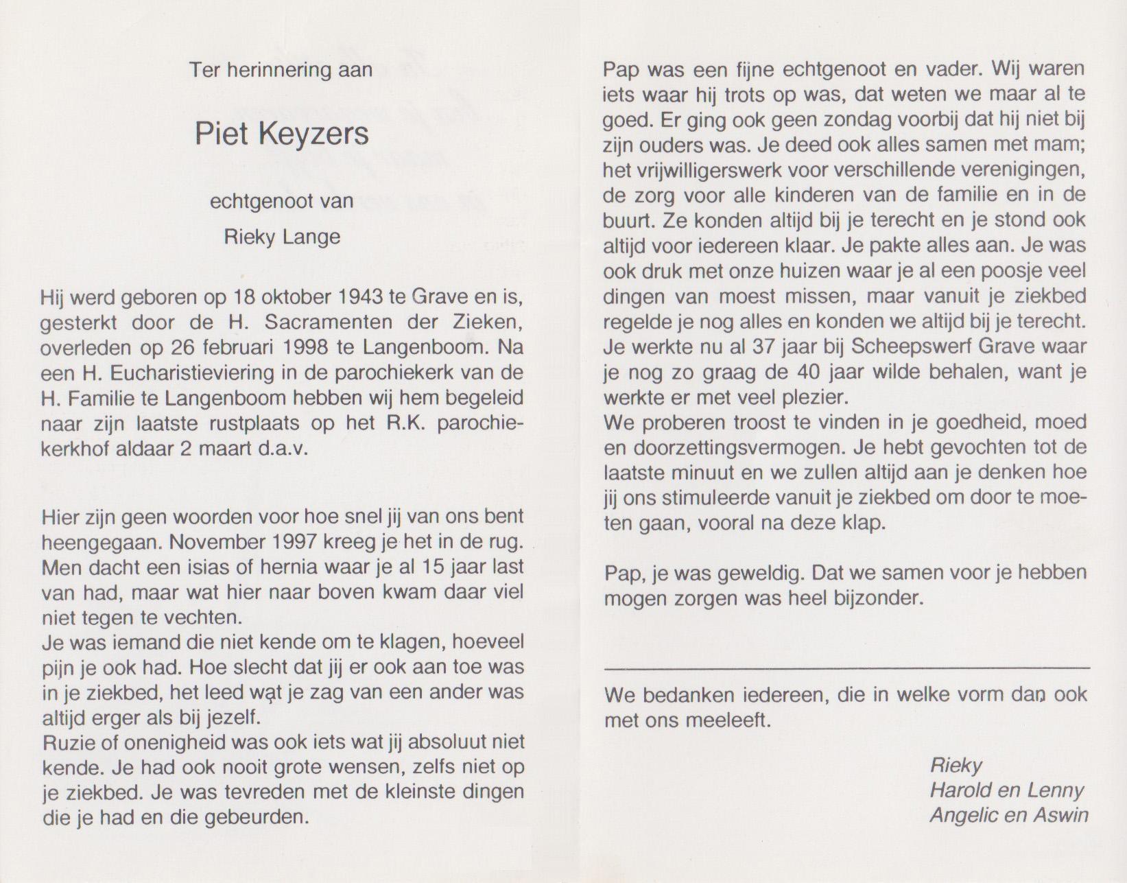 Bidprentje PietKeyzers