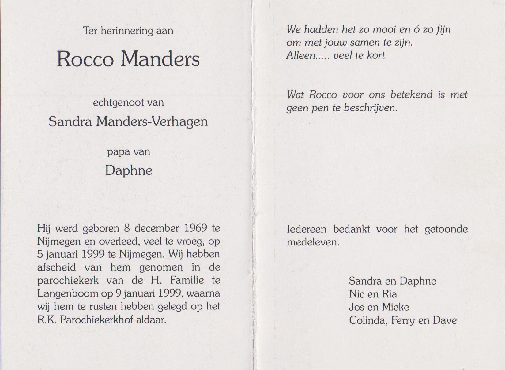 Bidprentje RoccoManders