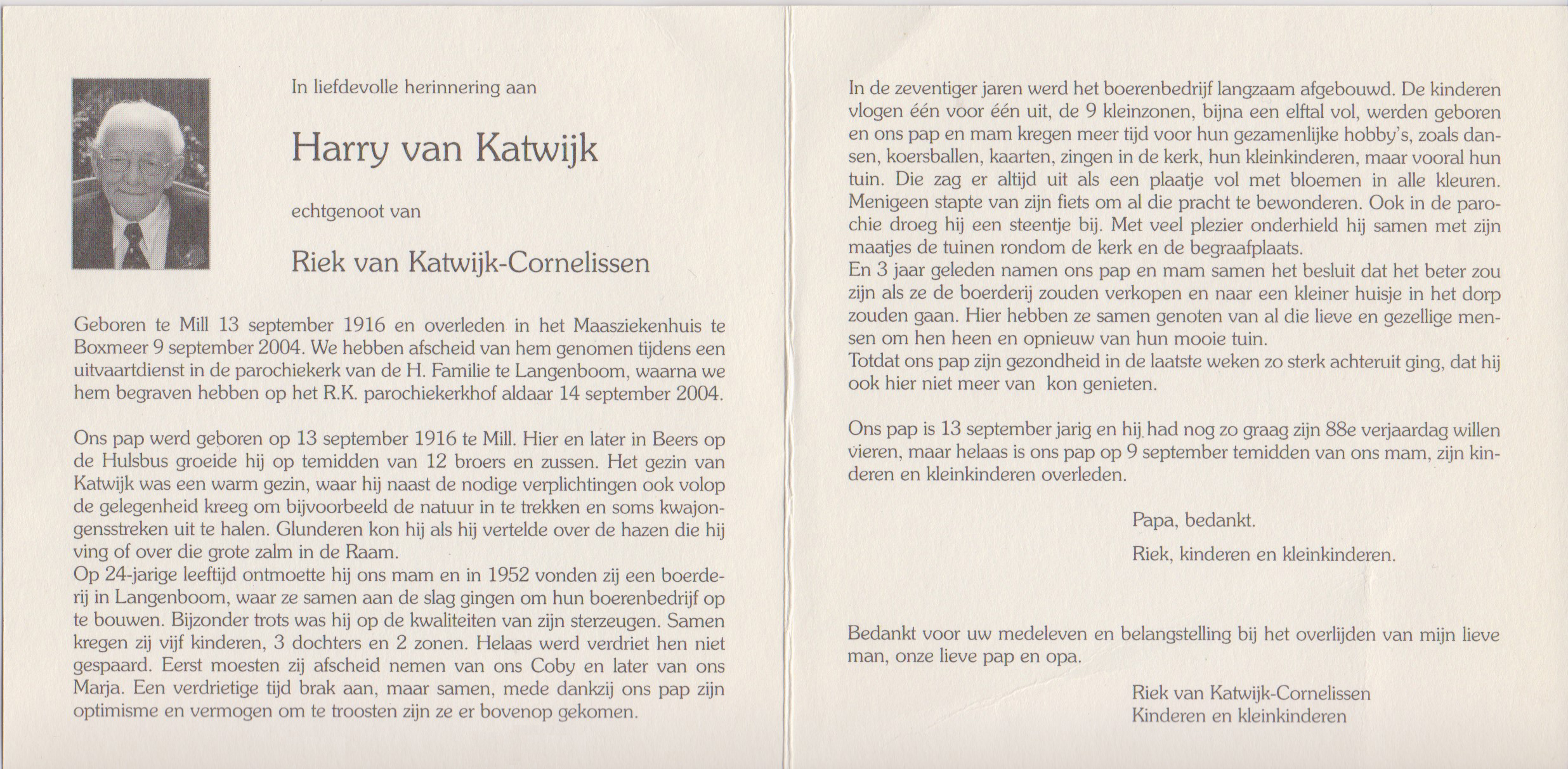 Bidprentje Henricus JohannesKatwijk