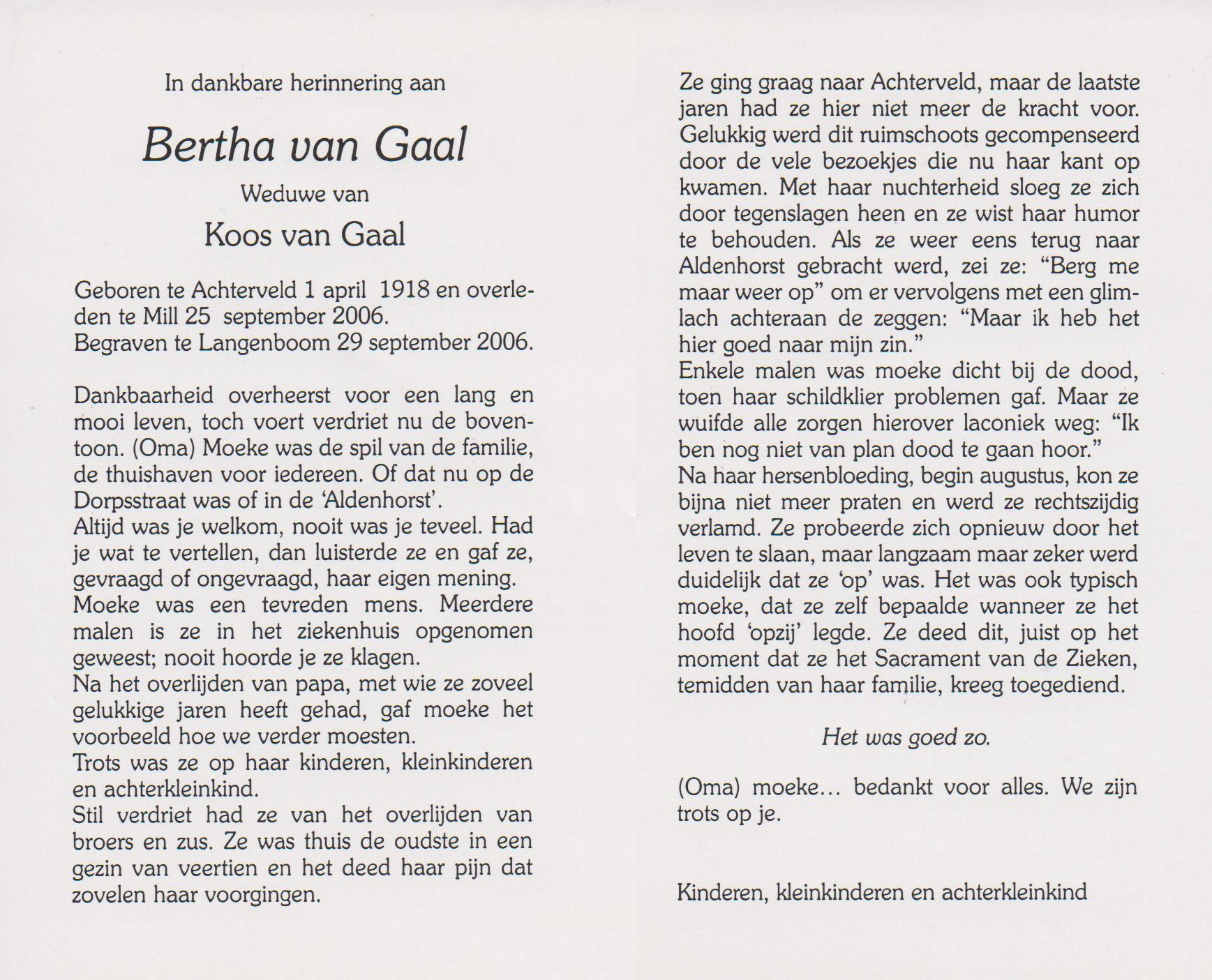 Bidprentje BerthaZandbrink