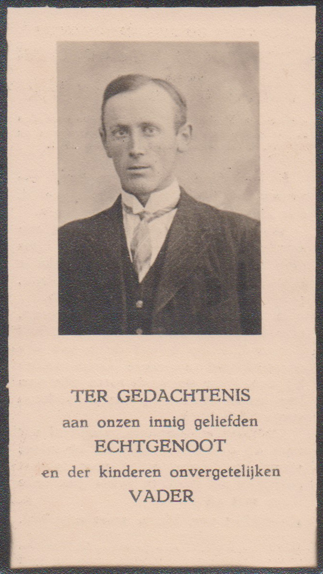 Bidprentje Antonius JacobusGelden