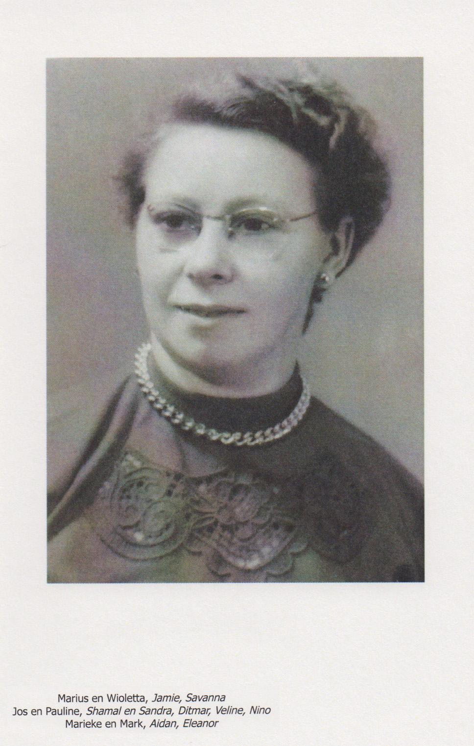 Bidprentje Maria NicolaVen