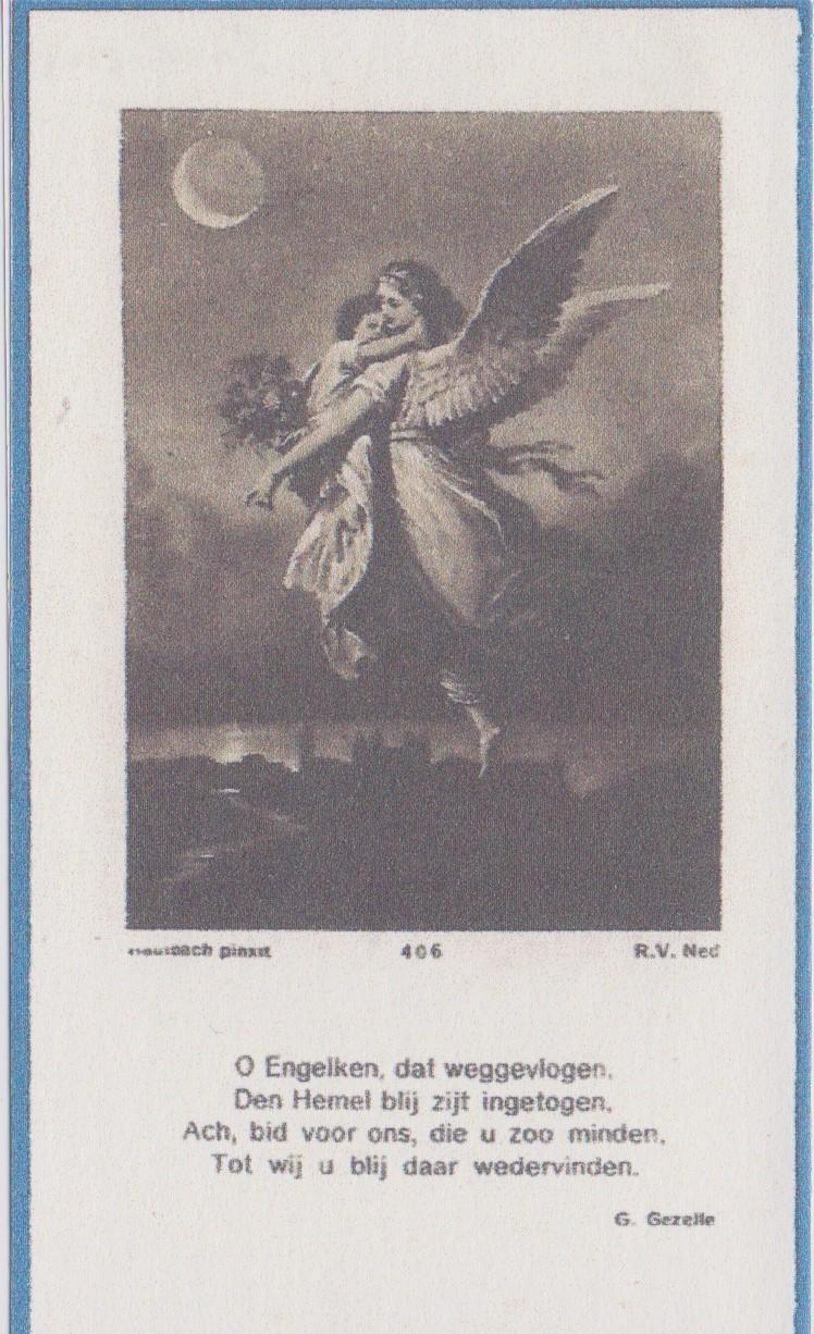 Bidprentje Henricus Cornelius MariaDaamen