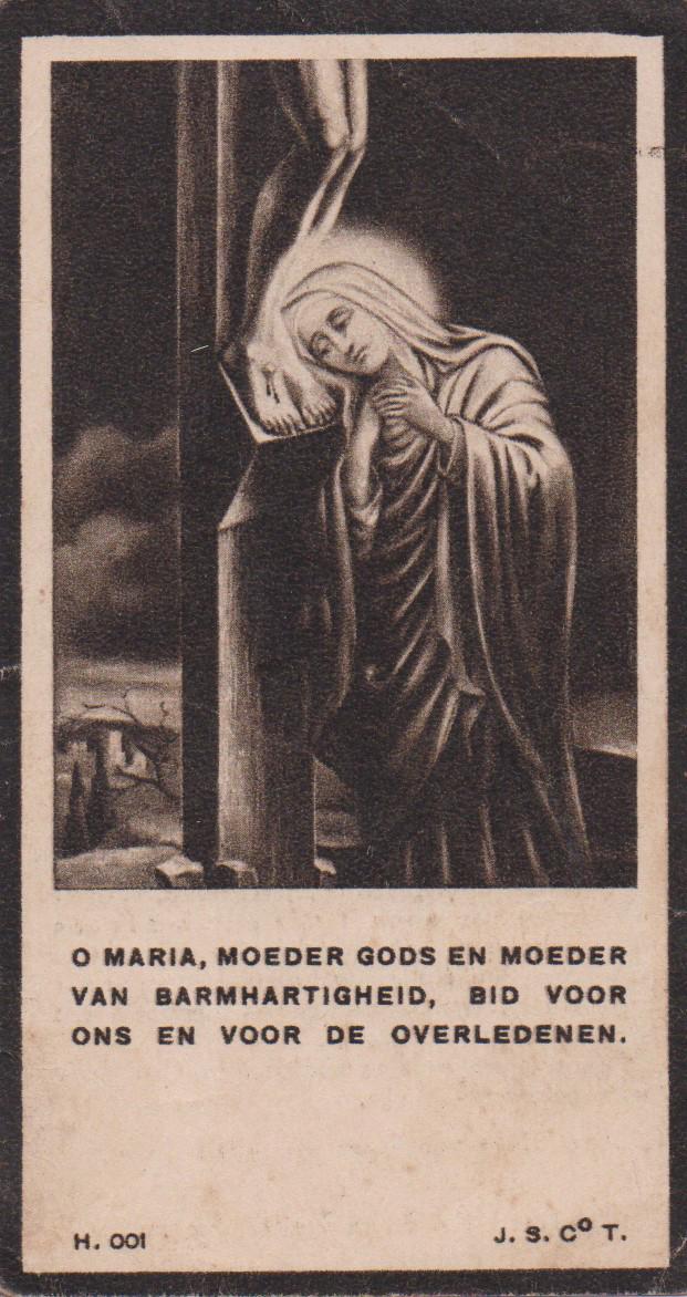 Bidprentje Adrianus MartinusBastiaans