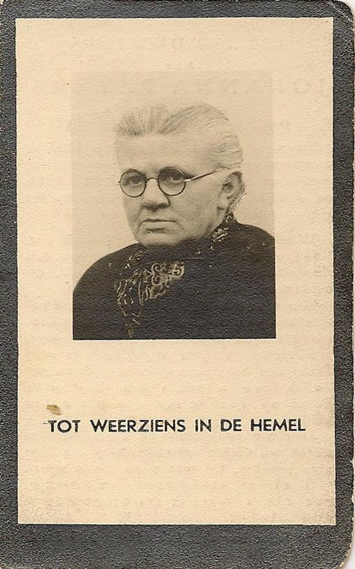 Bidprentje JohannaPeters