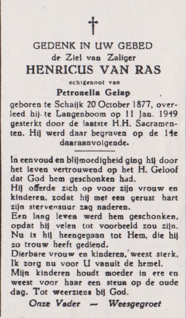 Bidprentje HenricusRas