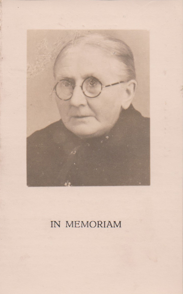 Bidprentje Johanna WilhelminaDerks