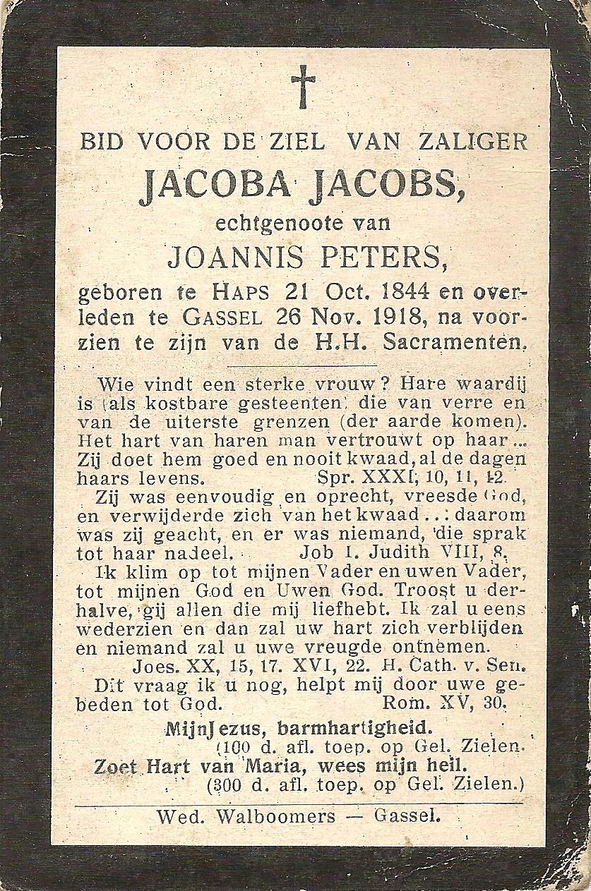 Bidprentje JacobaJacobs