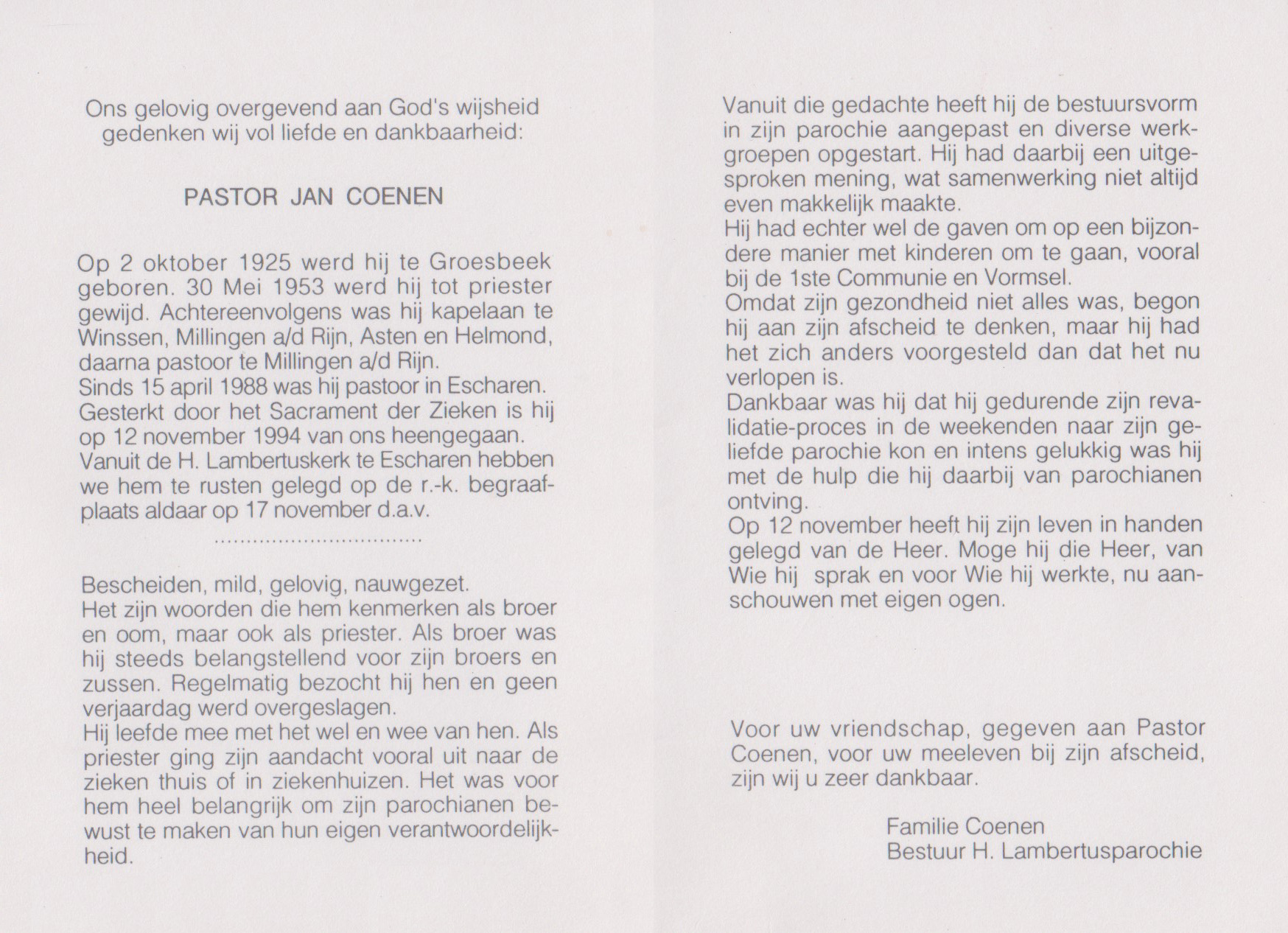 Bidprentje JanCoenen