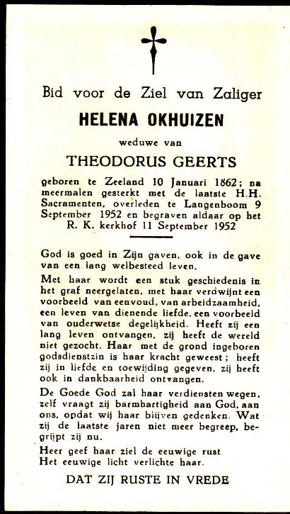 Bidprentje HelenaOkhuizen