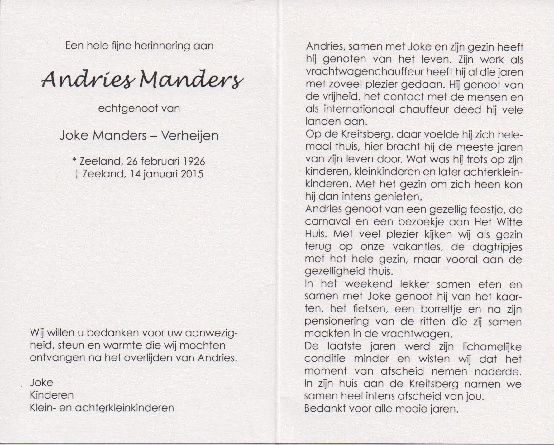 Bidprentje AndriesManders