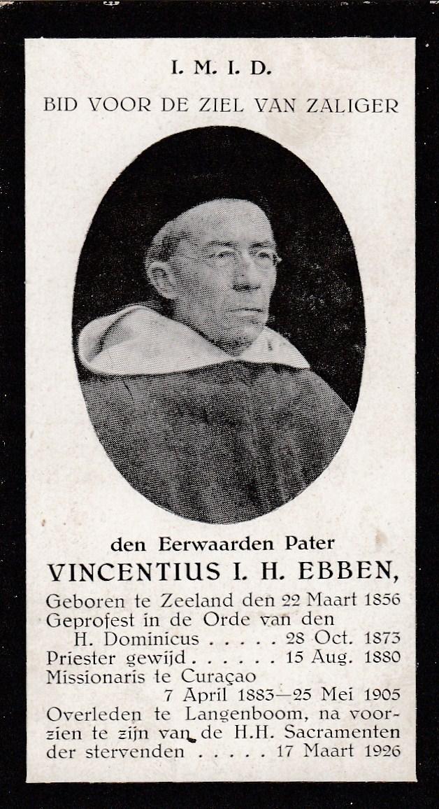 Bidprentje VincentiusEbben