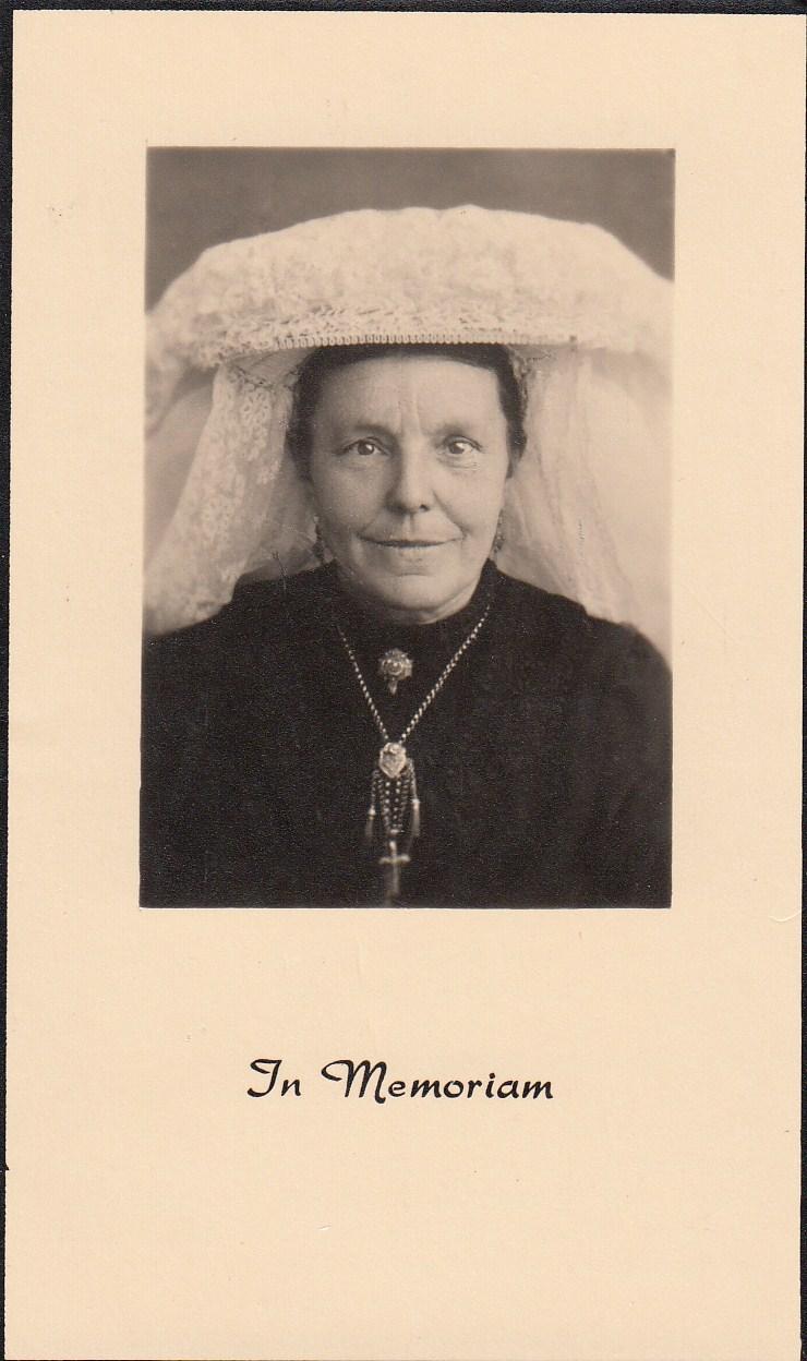 Bidprentje ElisabethZutven