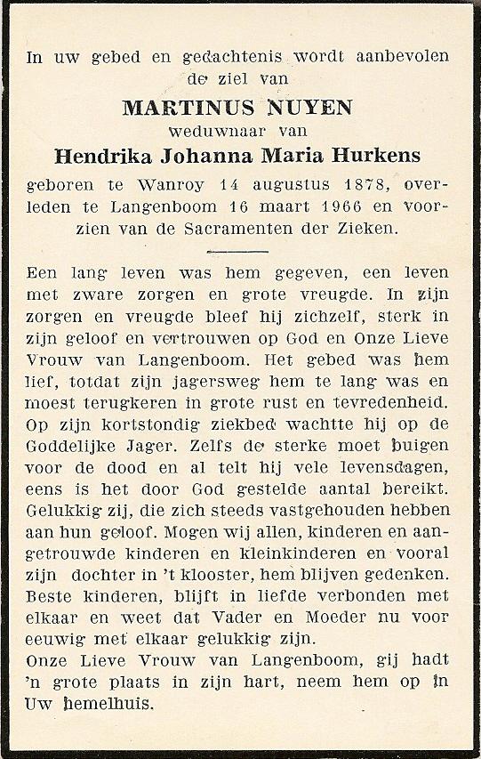 Bidprentje MartinusNuyen