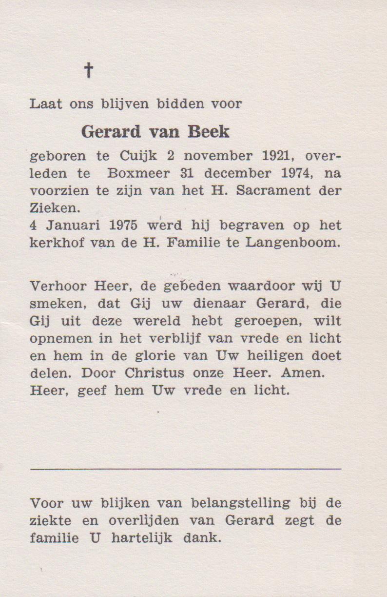 Bidprentje GerardBeek