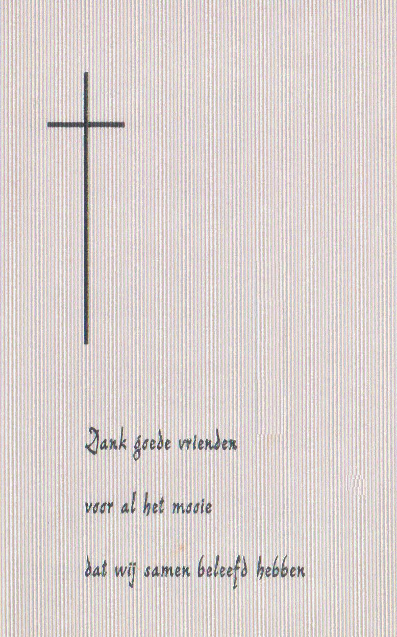 Bidprentje Hendrikus WilhelmusThijssen