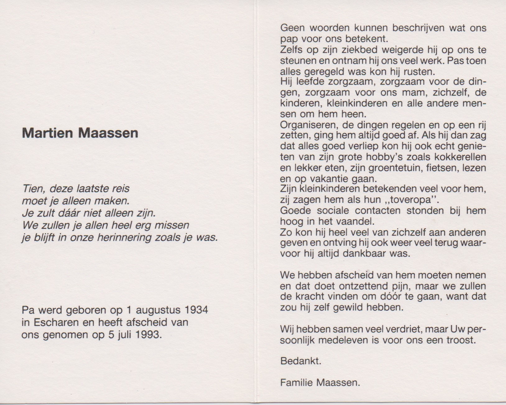 Bidprentje MartienMaassen